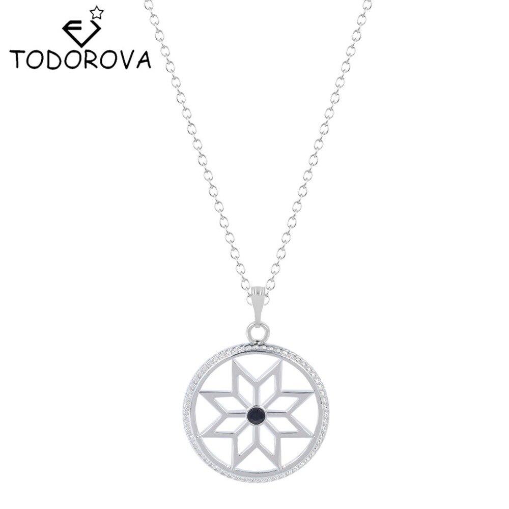 Todorova Wholesale Slavic Warding Lotus Flower Pendant Necklace