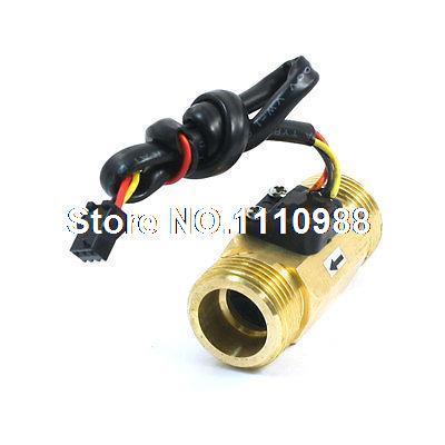 SEN-HZ43WB G3/4 Male Thread Brass Hall Effect Water Flow Sensor 1-30L/min