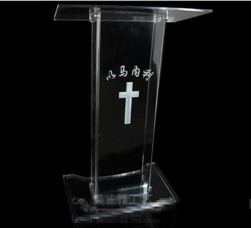 Free Shipping Free Shipping Logo Customize Hot Sale Modern Detachable Acrylic Podium Church