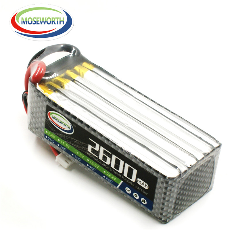 MOSEWORTH 6S 22.2V 2600mah 30c RC airplane lipo battery for rc helicopter car boat quadcopter Li-Polymer battery new battery for trimble gps juno sb sa sc sd battery 3 7v 2600mah