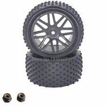 2 Unids 88 MM RC 1/10 Buggy Ruedas Neumáticos De Goma Hexagonal Trasera 12mm Ancho: 41mm Para El Control Remoto Control de Manía Del Coche