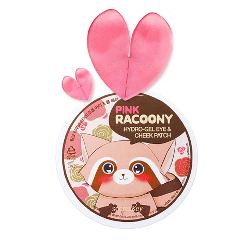 SECRET KEY Pink Racoony Hydro-Gel Eye & Cheek Patch 60pcs Eye Mask Anti Wrinkle Sleeping Eye Patch Dark Circles Eye Bags Remover