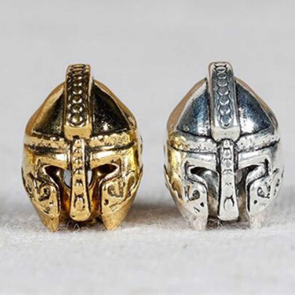 ใหม่โรมันทหาร Spartan ลูกปัดโลหะ Charms สำหรับเครื่องประดับ DIY ทำโบราณ Sliver Gold สี DIY สร้อยข้อมือ 5 pcs