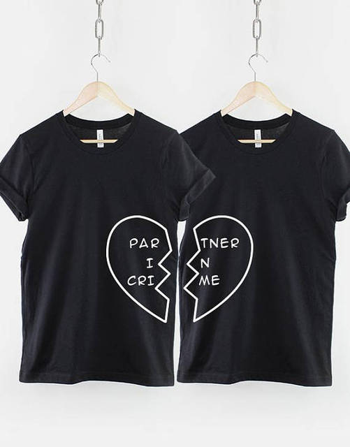 555b7d092b OKOUFEN Best Friend couple tShirt Partner women fashion letter printed  cotton tees tops tumblr casual clothing