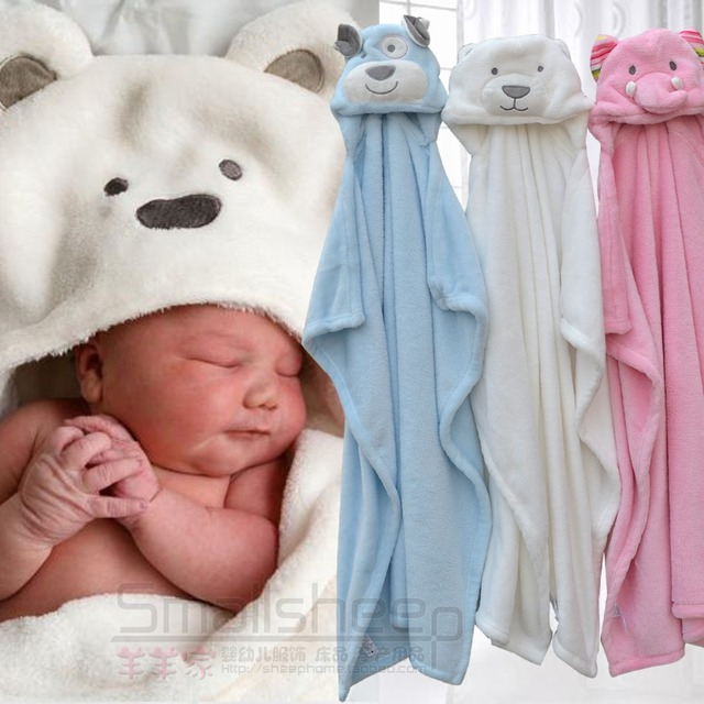 Free shipping cute bear dog elephant baby hooded bathrobe towel baby  receiving fleece blanket neonatal hold to be Children kids fa5d2b40d