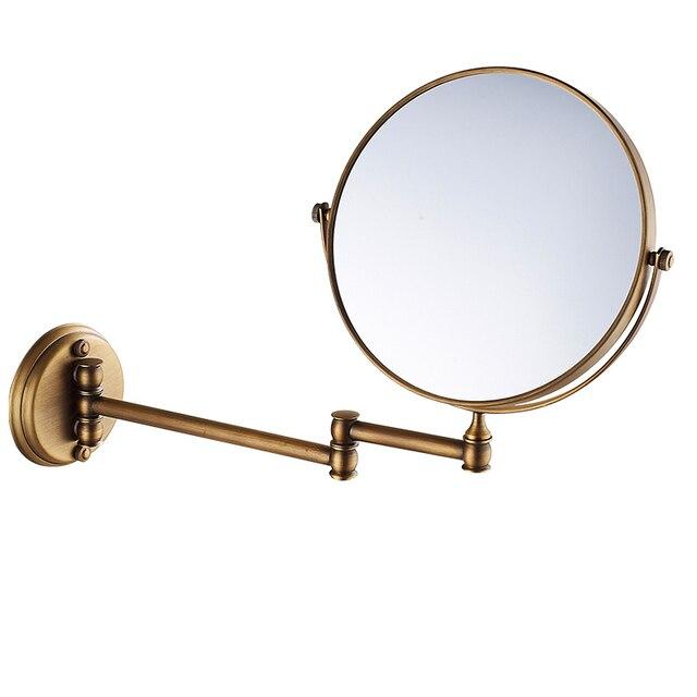 Antique Copper 8 Inch Wall Mounted Install/desktop Beauty Mirror Cosmetic  Mirror, Bedroom/