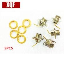 XQF 5PCS Connector SMA plug 2-hole flange Kenwood Radio TK2107 3107 2260 3160 3260