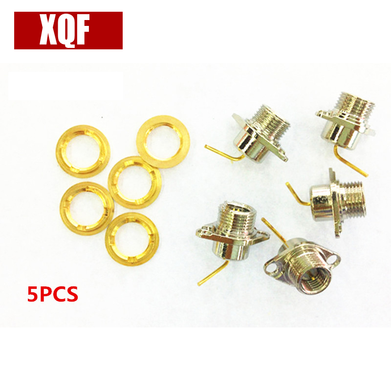 XQF 5PCS Connector SMA Plug 2-hole Flange Kenwood Radio TK2107 3107 2260 3160 3260