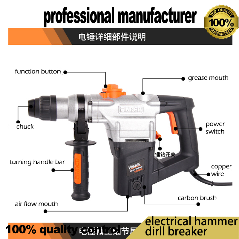 new arrival delimotion electrical breaker hammer for wood steel hole for cement broken at good price цена