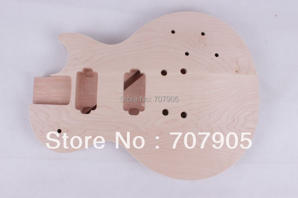 New High Quality Unfinished electric guitar body Mahogany body high quality custom shop lp jazz hollow body electric guitar vibrato system rosewood fingerboard mahogany body guitar