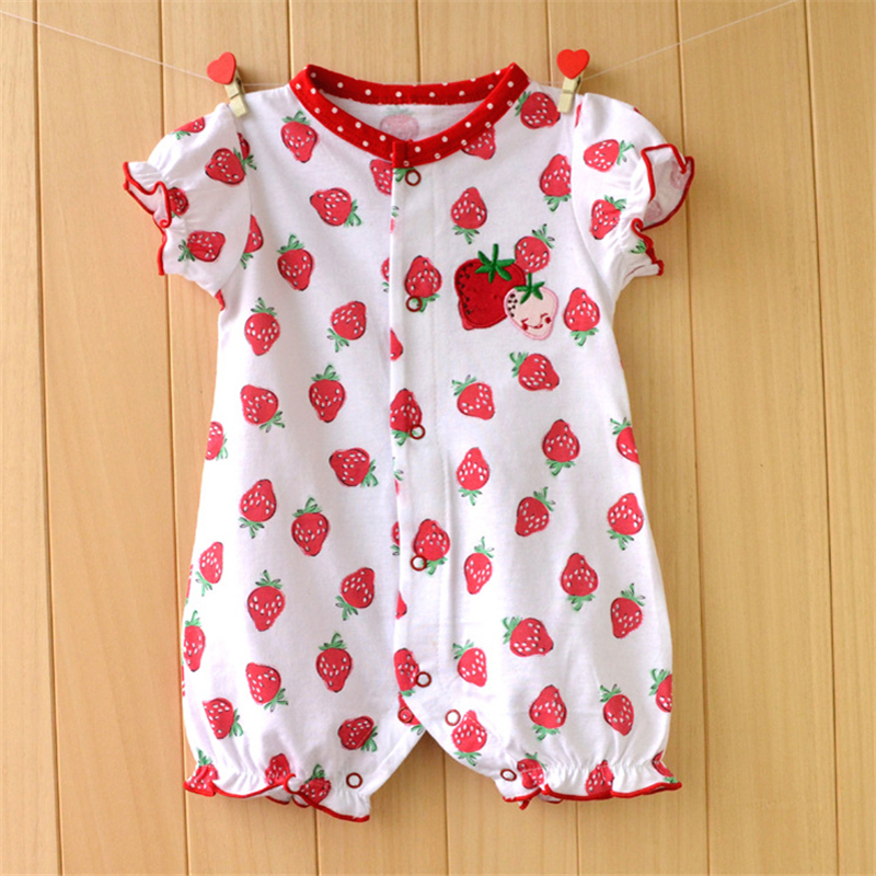 Baby Girl Clothes Summer Baby Rompers 2017 Baby Girl Clothing Cute Newborn Baby Clothes Roupas Bebe Infant Jumpsuit Kids Clothes summer cotton baby rompers boys infant toddler jumpsuit princess pink bow lace baby girl clothing newborn bebe overall clothes