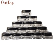 Best New 50Pcs Clear Cosmetic Sample Empty Container Jar Pot Eyeshadow Makeup Cream Lip Balm Plastic Small Tiny Bottles G 12 280(China)
