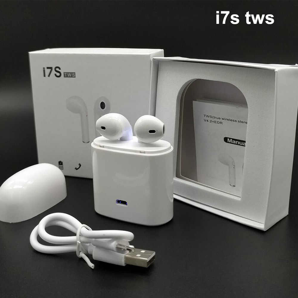 54d29f15dc8 ... i7s TWS Bluetooth Wireless Earphones Air Pods Handsfree Stereo Earpiece  Sport Music Fone De Ouvido For