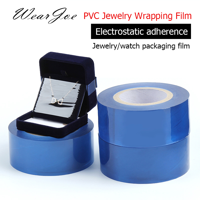 PVC Rings Pendant Necklace Bracelet Gauge Pacckaging Wrapping Film Crystal Silver Jewelry Watch Anti Static Protective Film Tape