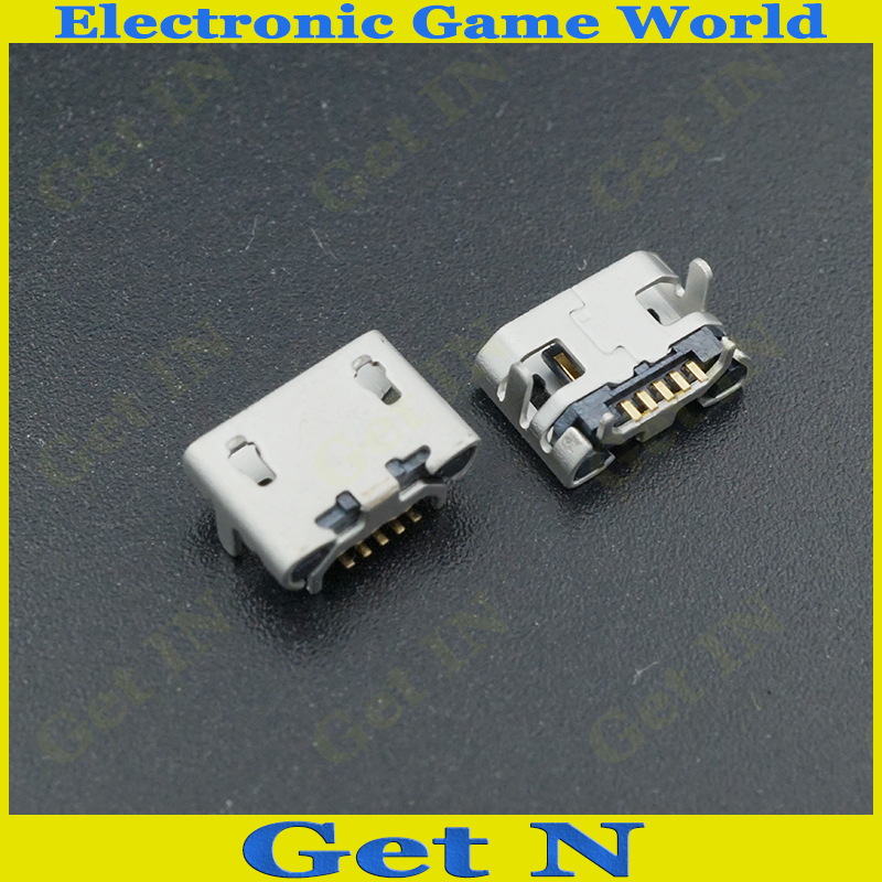 Universal 5P Micro USB Jack DIP 2 feet SMD 7.2 Small Ox Horn Connector Tail Charging Ports 100PCS/LOT