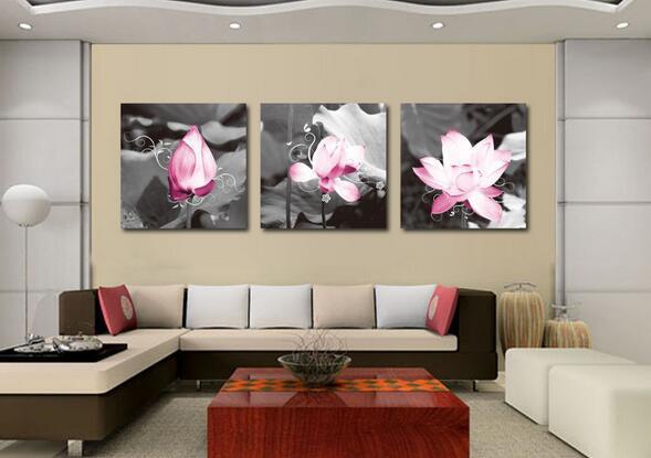 Quadri Da Parete Spedizione Gratuita Moderna Lotus Art Dipinti di ...