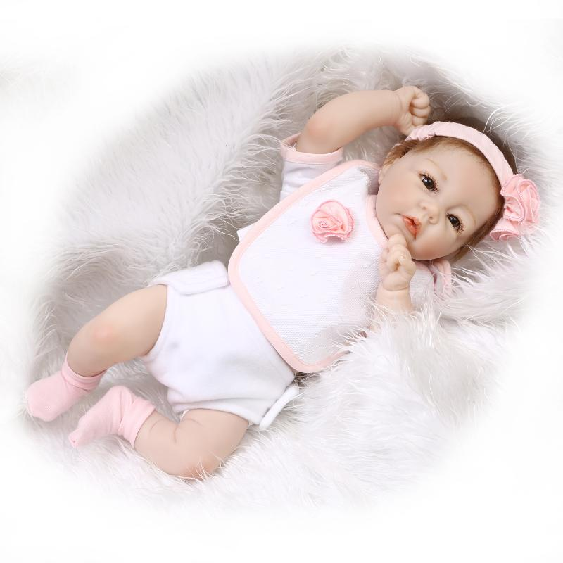 цена 50cm Soft Body Silicone Reborn Baby Doll Toy For Girls NewBorn Girl Baby Birthday Gift To Child Bedtime Early Education Toy