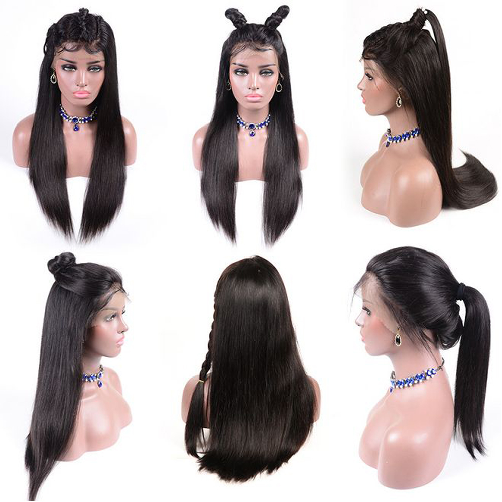 Image 4 - 13x4 Lace Front Human Hair Wigs Pre Plucked Hairline Baby Hair Brazilian Straight Lace Front Wigs Bleached Knots Remy QT Hair-in Human Hair Lace Wigs from Hair Extensions & Wigs