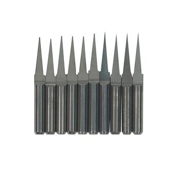 10pcs/lot 3.175mm CNC tools V Shape Flat Bottom Knife PCB Flat bottom engraving bits for engraving milling Machine 10pcs lot d10 0mmx30mmx100mm 2 flutes flat 100