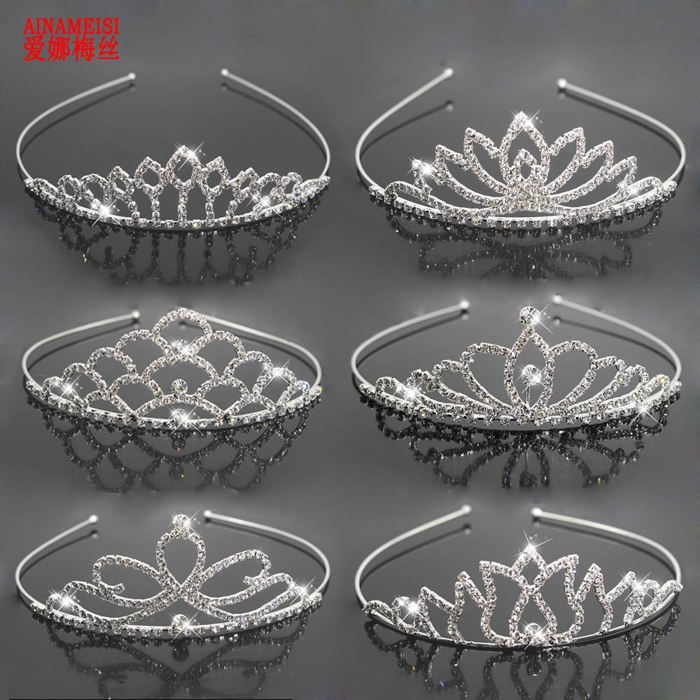 Женская Тиара для невесты ainamaisi, свадебная тиара с короной, украшение для волос со стразами, аксессуары для волос