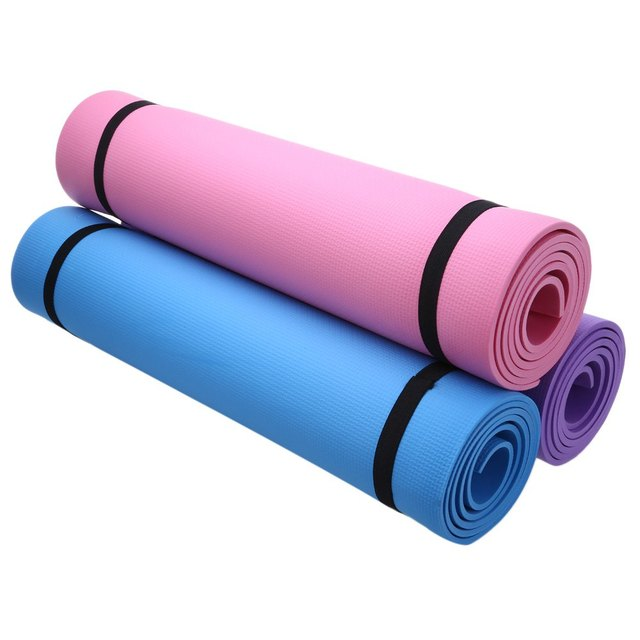 Thick Yoga Mat Exercise Pad:Non-slip Folding Gym Fitness