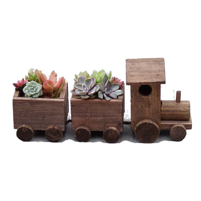 office flower pots. caioffer small train shape gift plant garden wooden flower pots best decoration for office balcony home u