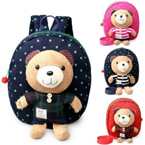 Lovely 3D Bear Shape Baby Toddler Safety Harness Leash Anti-lost Girls Boys Kid kindergarten School Bags Backpack