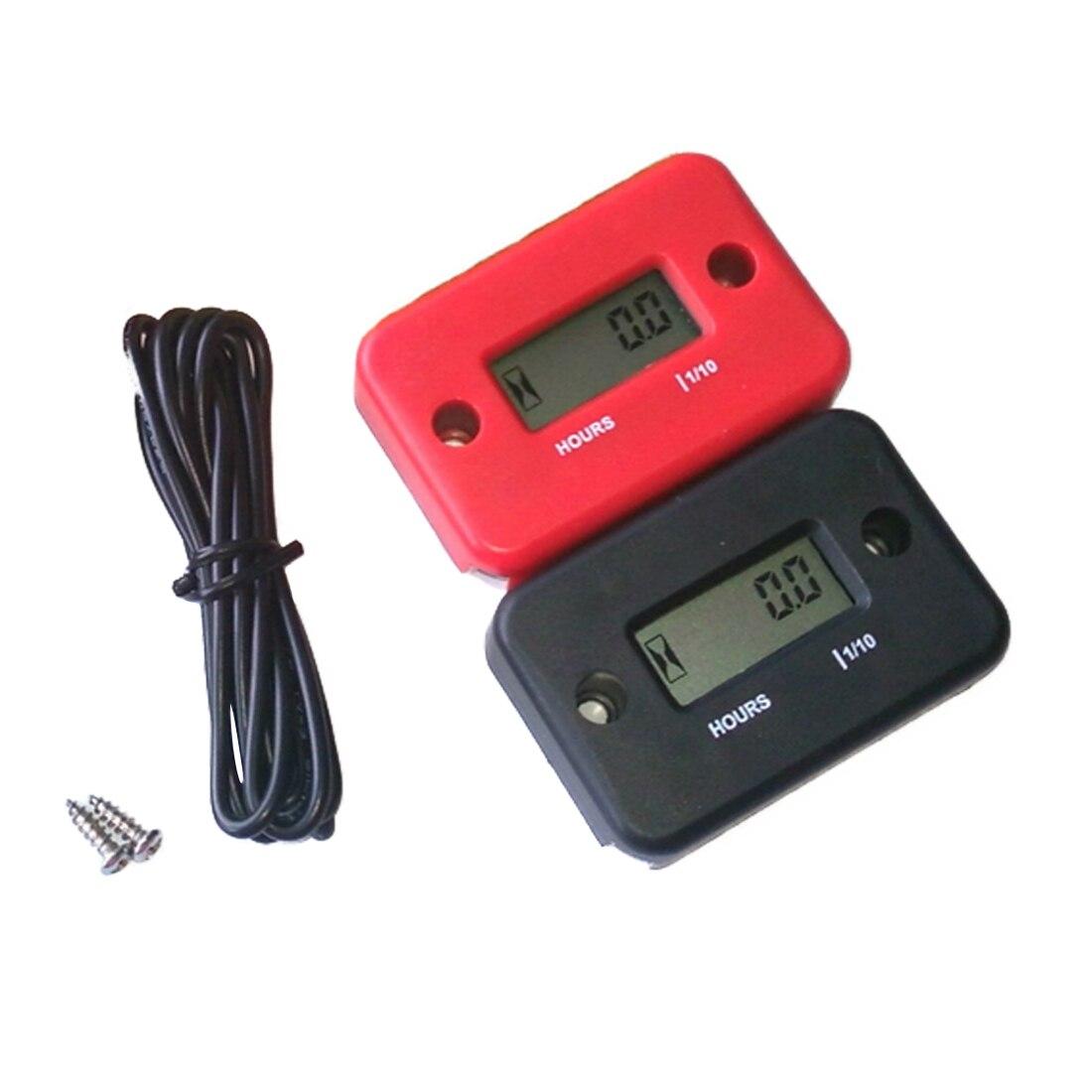 Digital Engine Hour Meter Inductive Waterproof LCD Hourmeter for Motorcycle  Dirt Bike Marine ATV Snowmobile