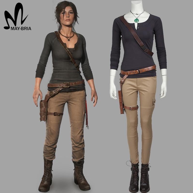 Lara Croft cosplay Costume game Tomb Raider cosplay Lara Croft costumes adult women Carnival Halloween costume custom made