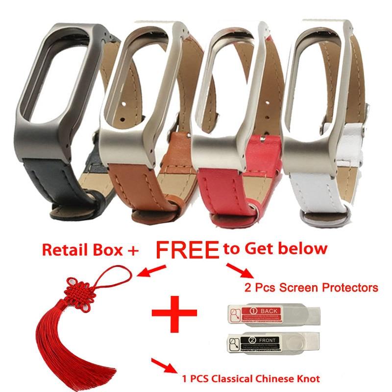 Para Xiaomi Mi Band 2 Correa de cuero Muñequera Para Mi banda 2 Pulsera sin tornillos para Miband 2 Para mi pulsera 2 Accesorio inteligente