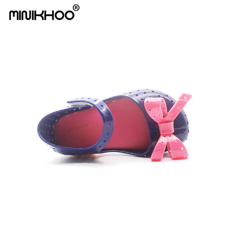 84396a91ebed ... Mini Melissa 4Color Bow Tie Cute Girls Jelly Sandals 2018 New Melissa  Children Shoes Baby Sandals ...
