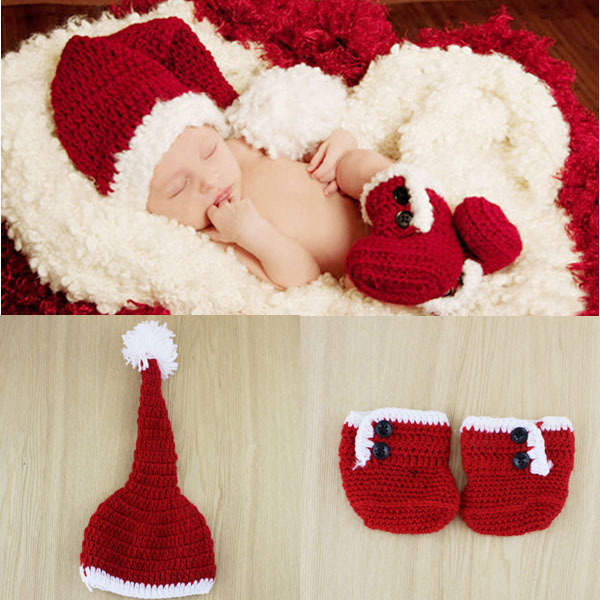 fashion red crochet kids infant boys character shoes baby christmas outfit in hats caps from mother kids on aliexpresscom alibaba group