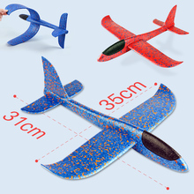 Airplane Glider Foam Toys Inertial Roundabout  Flying Epp Jet Aircraft model Toy Outdoor Sports Fun Planes For kids boy Children fun plastic flying disk for kids red