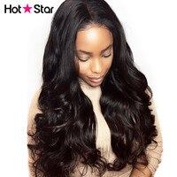 Кружева передние человеческих волос парики Дева бразильский объемная волнистые волосы Горячая звезда 150% плотность предварительно сорвал