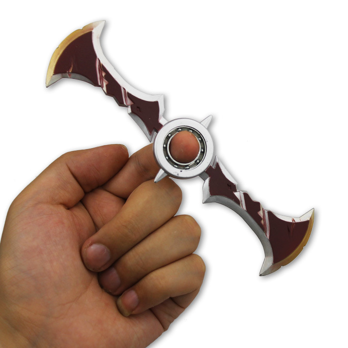 Costume Props Creative Game Lol Draven Rotatable Shuriken For Children Ow Zinc Alloy Model Weapons Darts Gifts Toys For Kids