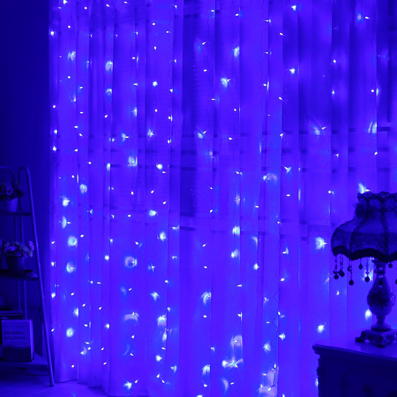 3M * 3M LED Icicle String Lights Xmas Fairy - Ferie belysning - Foto 4