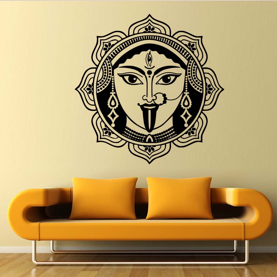 ₪Indian Mural Art Shiva Wall Stickers Home Decor Living Room High ...