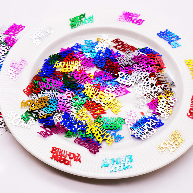 15g Happy Birthday Number Confetti For Wedding Party Table Decoration Age Supplies