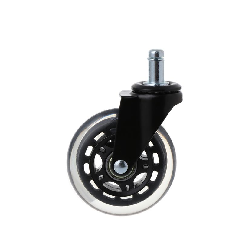 Купить с кэшбэком 5Pcs 11x22mm Office Chair Wheels Wivel Rubber Caster Wheel Safe Rolling Caster Replacements For Home Furniture