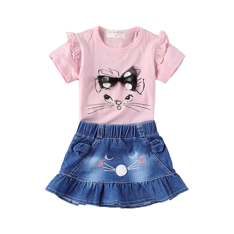 Baby Girl Clothes 2018 Toddler Kids Summer Clothing Set