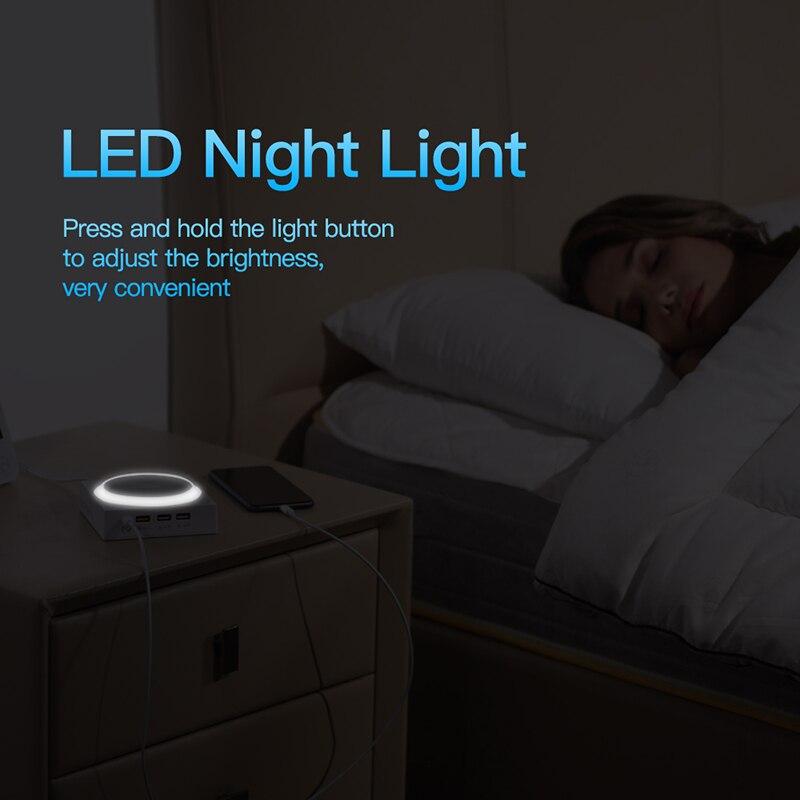Baseus лампа Qi Беспроводное зарядное устройство для iPhone XS Max X складной настольный светодиодный светильник быстрая Беспроводная зарядка для ... - 5
