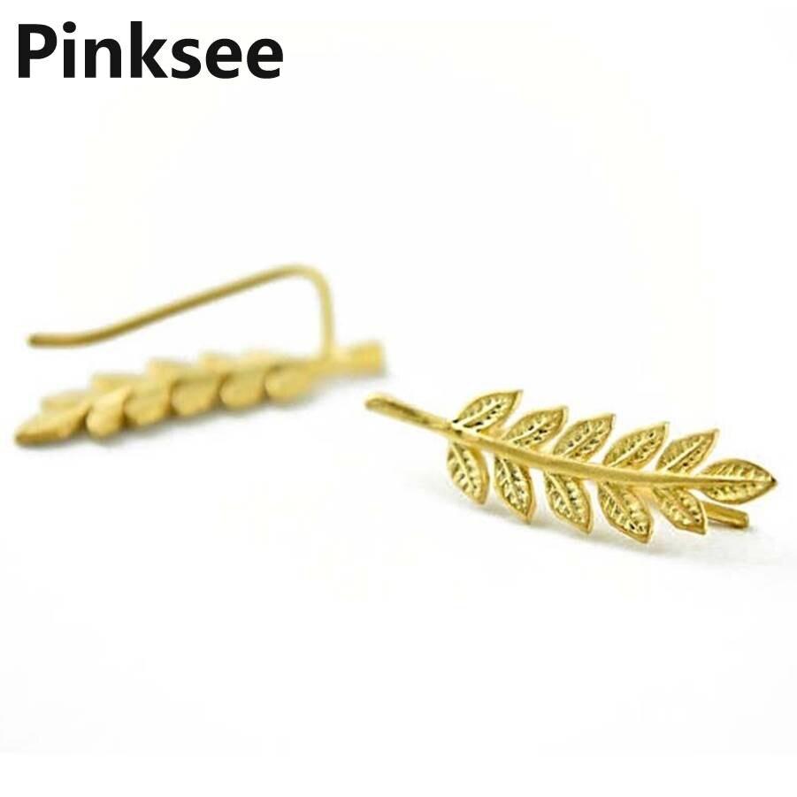 Snelle Levering Boho Leuke Leaf Oorbellen Voor Vrouwen Groothandel Bladeren Oor Manchetten Classic Delicate Oor Decoratie Bijoux Sieraden