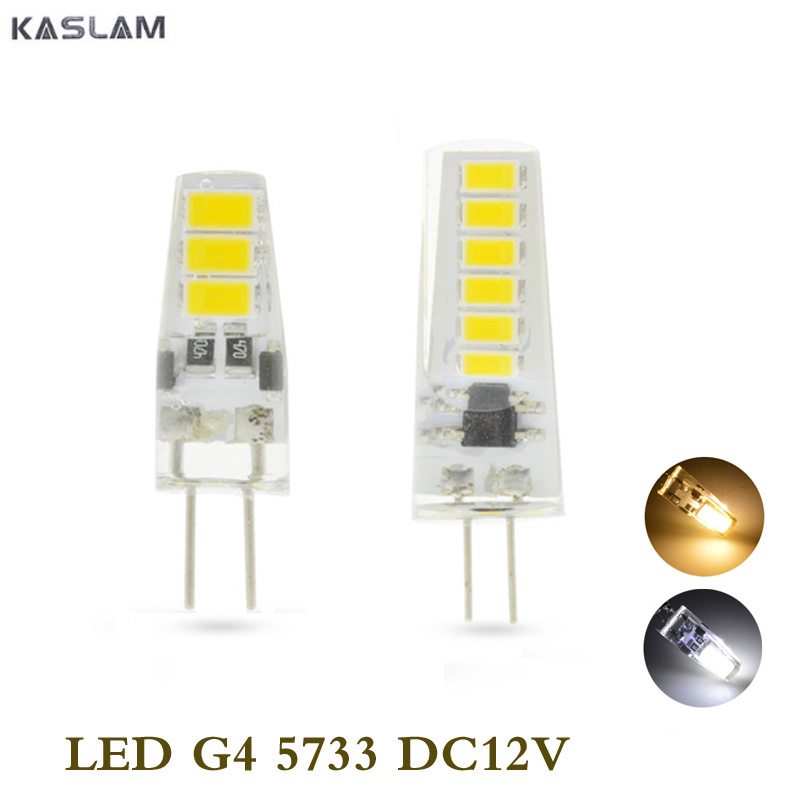 5X <font><b>G4</b></font> <font><b>Led</b></font> Lamp <font><b>3W</b></font> 5W DC12V 6/12 <font><b>LEDs</b></font> <font><b>Led</b></font> Lamp 5733 White Spotlight For Crystal Chandelier Replace 20W 40W Halogen Light image