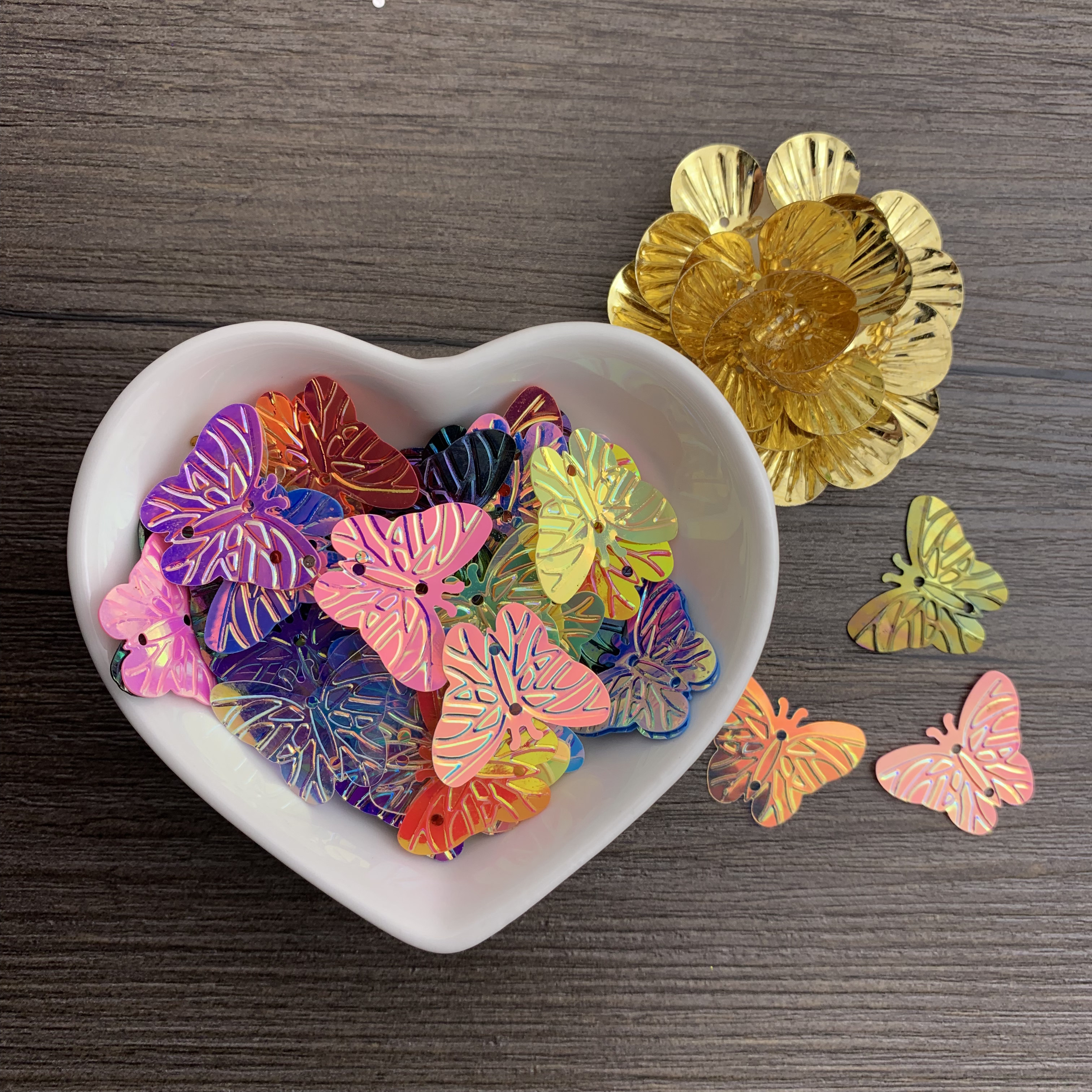 150pcs(15g)Butterfly Sequins 20mm Butterfly Shape Beads Handmade Children's Hair Accessories DIY Clothing Accessories