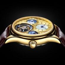 Guanqin Tourbillon Mechanical Watch Luxury Automatic Skeleton Tourbillon