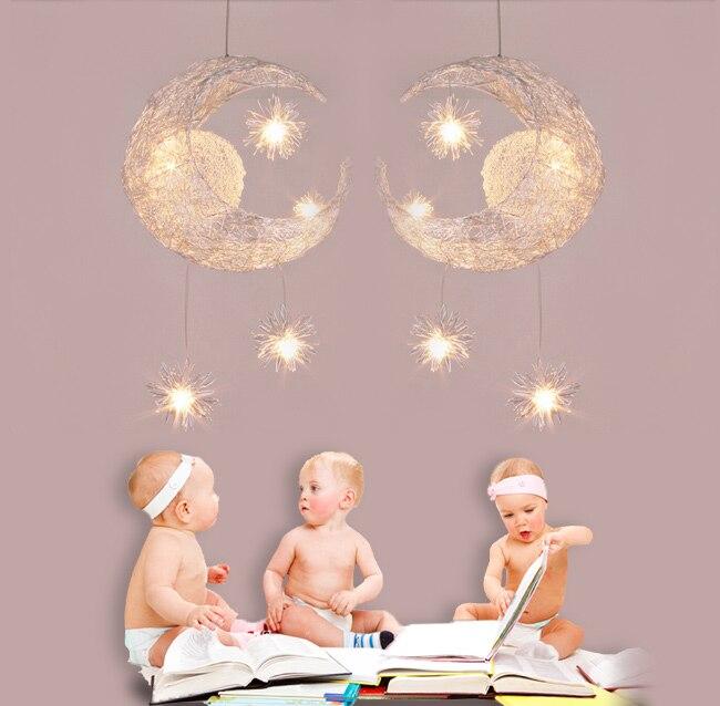 Moon Star Pendant Lights 5*G4 LED Pendant Lamp Kids Room Lighting Modern  Child Bedroom Lamps For Living Room Home Decoration In Pendant Lights From  Lights ...