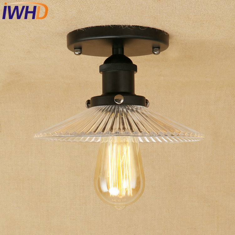 IWHD Retro Loft Style Edison Industrial Ceiling Lamp Antique Iron Glass Vintage Ceiling Light Fixtures Home Lighting Luminaria iwhd american edison loft style antique pendant lamp industrial creative lid iron vintage hanging light fixtures home lighting