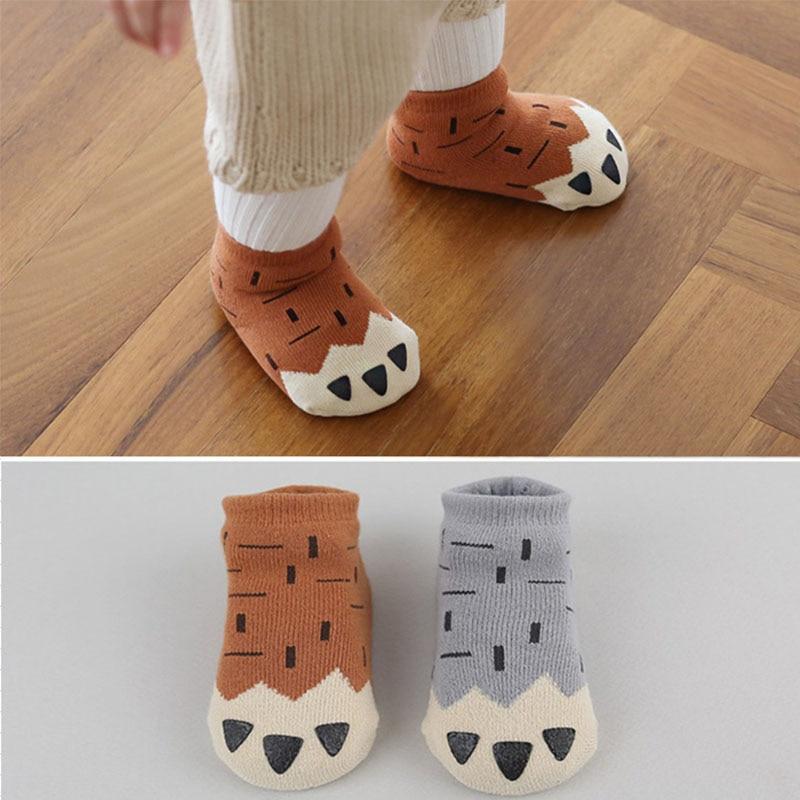 купить DreamShining Winter Baby Socks Thick Newborn Cartoon 0-4 Years Soft Cotton Sock Kids Casual Meias Anti Slip Boys Girls Socks по цене 122.9 рублей