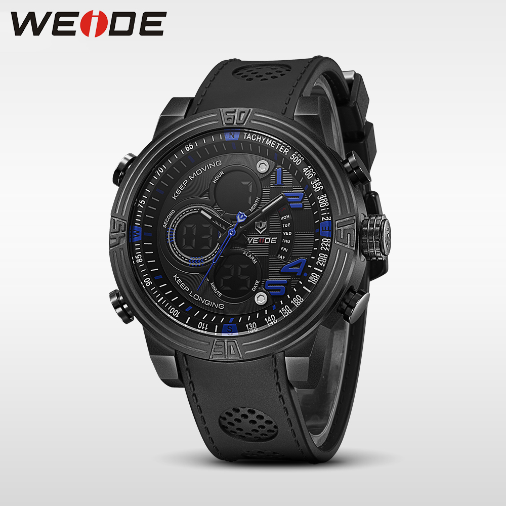 WEIDE New Men Quartz  Watch Multiple Time Zone Sports Watch Waterproof Back Light Men Watches alarm Clock relogio masculino weide casual genuin new watch men quartz digital date alarm waterproof fashion clock relogio masculino relojes double display
