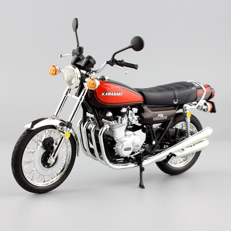 Kid's brand 1:12 scale Automaxx mini KAWASAKI 750 RS Z2 Motorcycle Diecast Model Motocross race moto super bike car gift toy boy